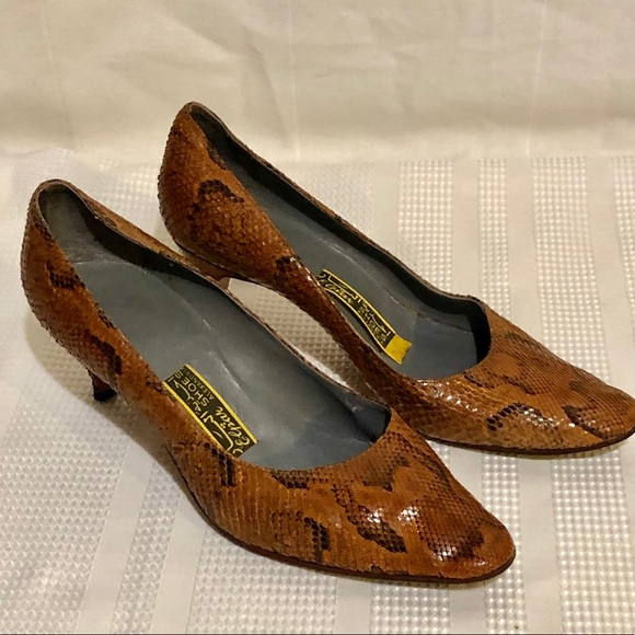 Vintage 50's Lizard High Heel Shoes ALL LEATHER!